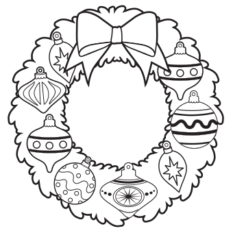 340x340 Christmas Coloring Pages