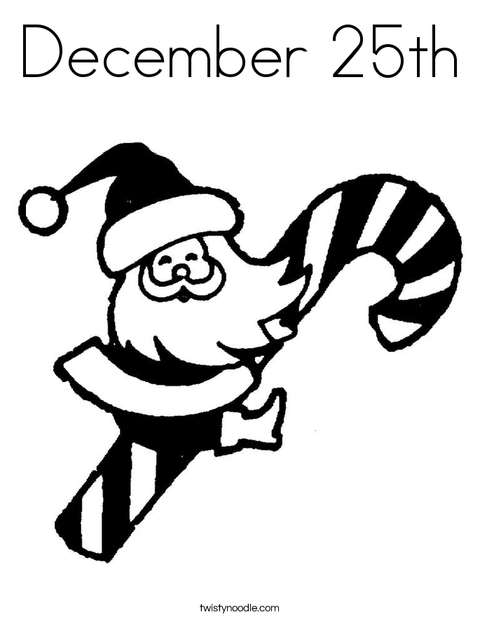 685x886 December 25th Coloring Page