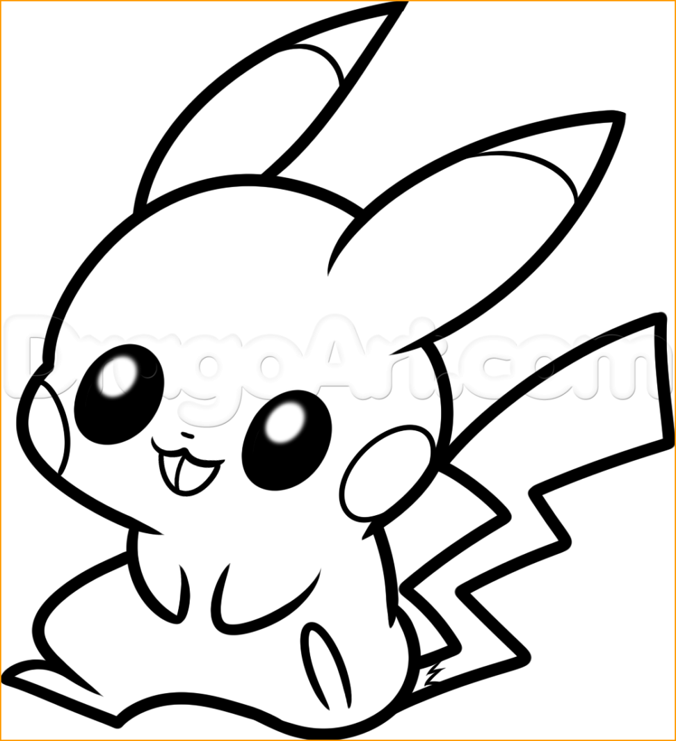972x1066 Best Hd Cute Pikachu Coloring Pages Free Big Collection Free