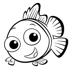 230x230 40 Finding Nemo Coloring Pages