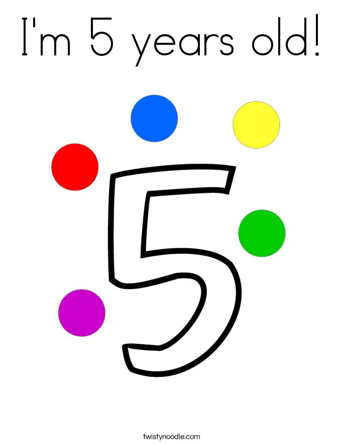 685x886 Number 5 Coloring Pages