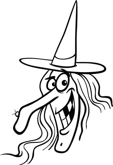 478x700 Free Printable Halloween Witch Coloring Page For Kids