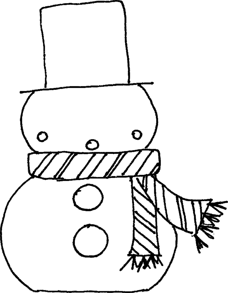 748x961 Christmas Coloring Pages Snowman Many Interesting Cliparts