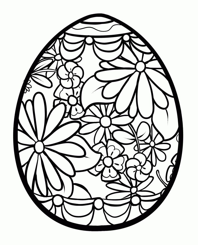 826x1023 Easter Coloring Pages For 2 Year Olds Simple Colorings