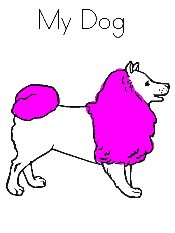 600x800 This Is My Dog, Isn'T She Cute Coloring Page