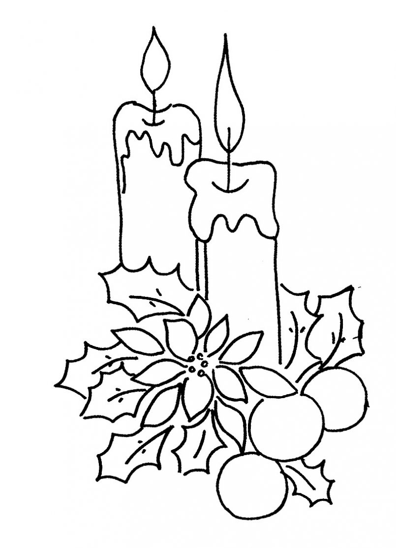 805x1115 Coloring Pages Kids Pictures Of Christmas Candles Free Download