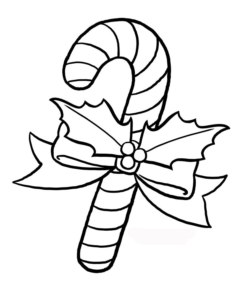 849x1000 Minnie Mouse Candy Cane Coloring Pages Of Christmas Christmas