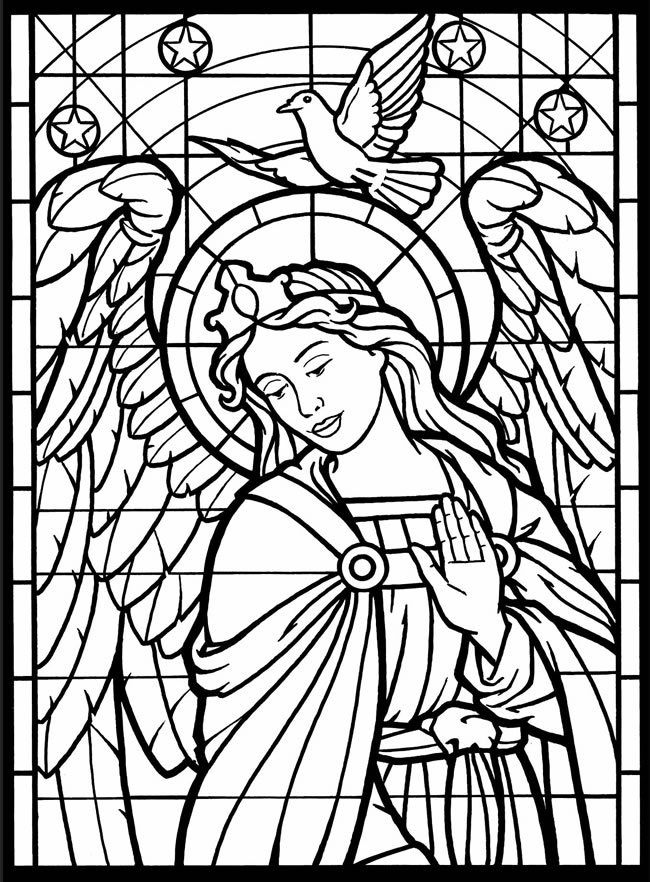 650x882 New Stained Glass Coloring Pages For Adults