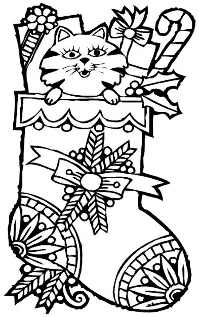 643x1024 Stocking Coloring Pages Printable For Kids And