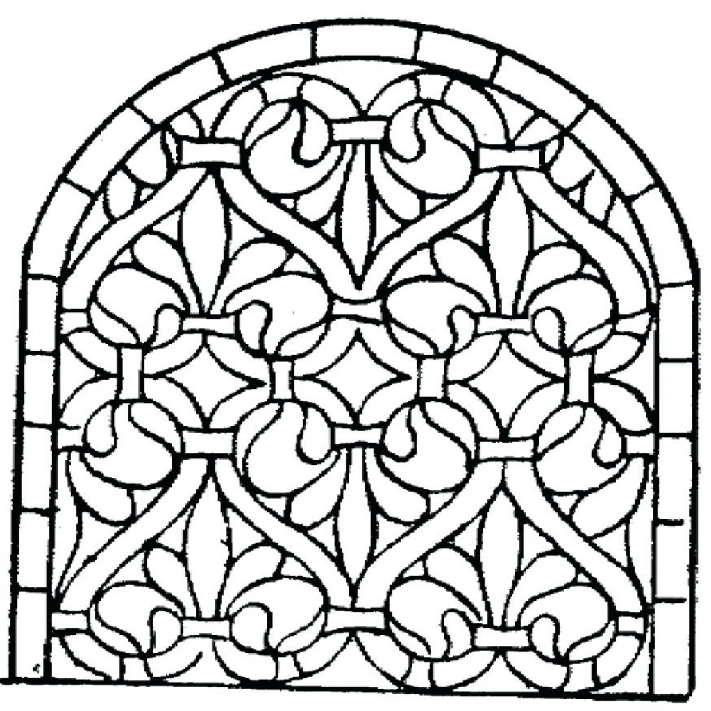 1024x1024 Beautiful Christmas Stained Glass Coloring Pages