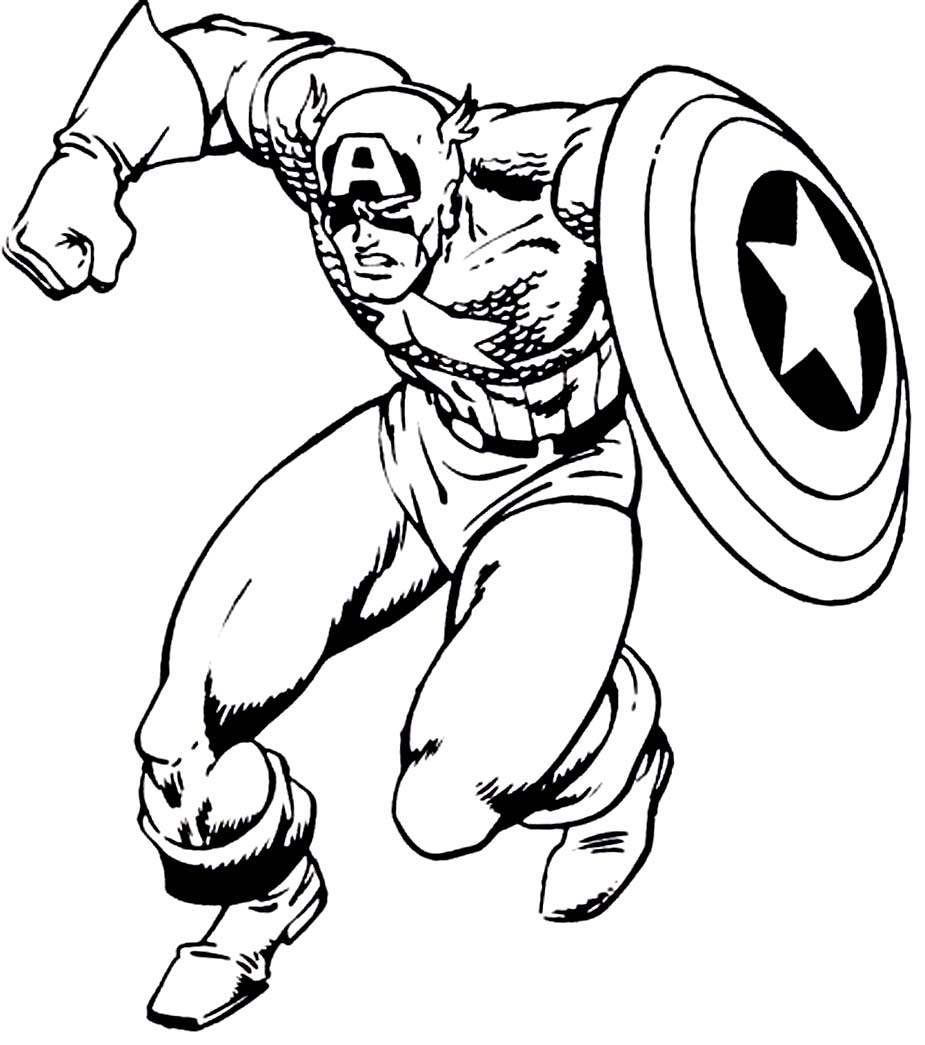925x1045 Coloring Pages Boys Free Printable Captain America Coloring
