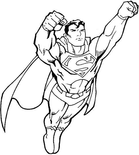 483x537 Best Superhero Coloring Pages Ideas Superman