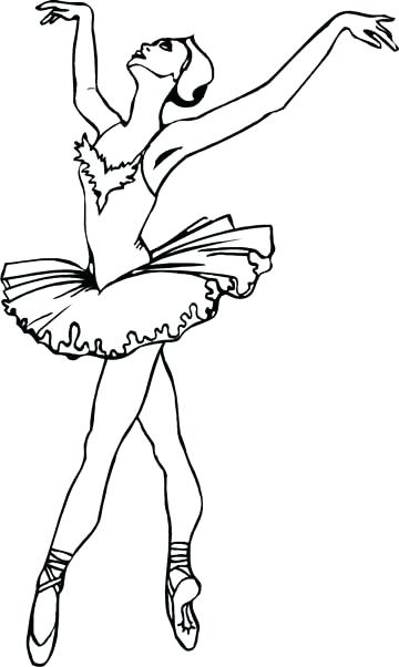 360x602 Dance Coloring Pages Ballerina Coloring Pages For Girls Coloring