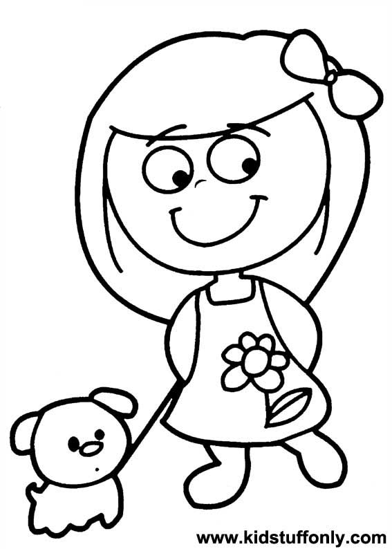 567x794 Amazing Little Girl Coloring Pages 74 In For Kids With