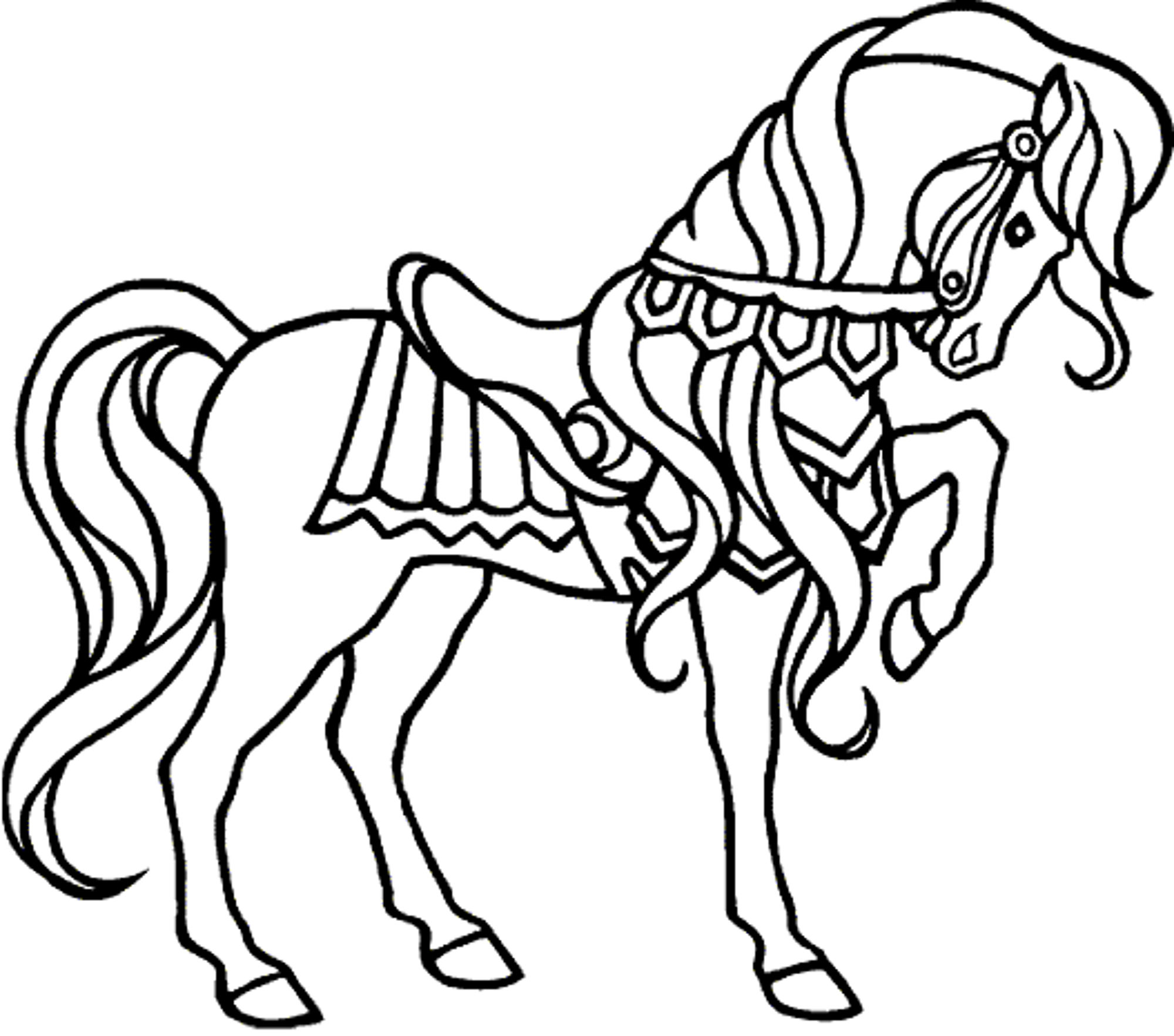 2000x1765 Fresh Coloring Pages Of Horses 8