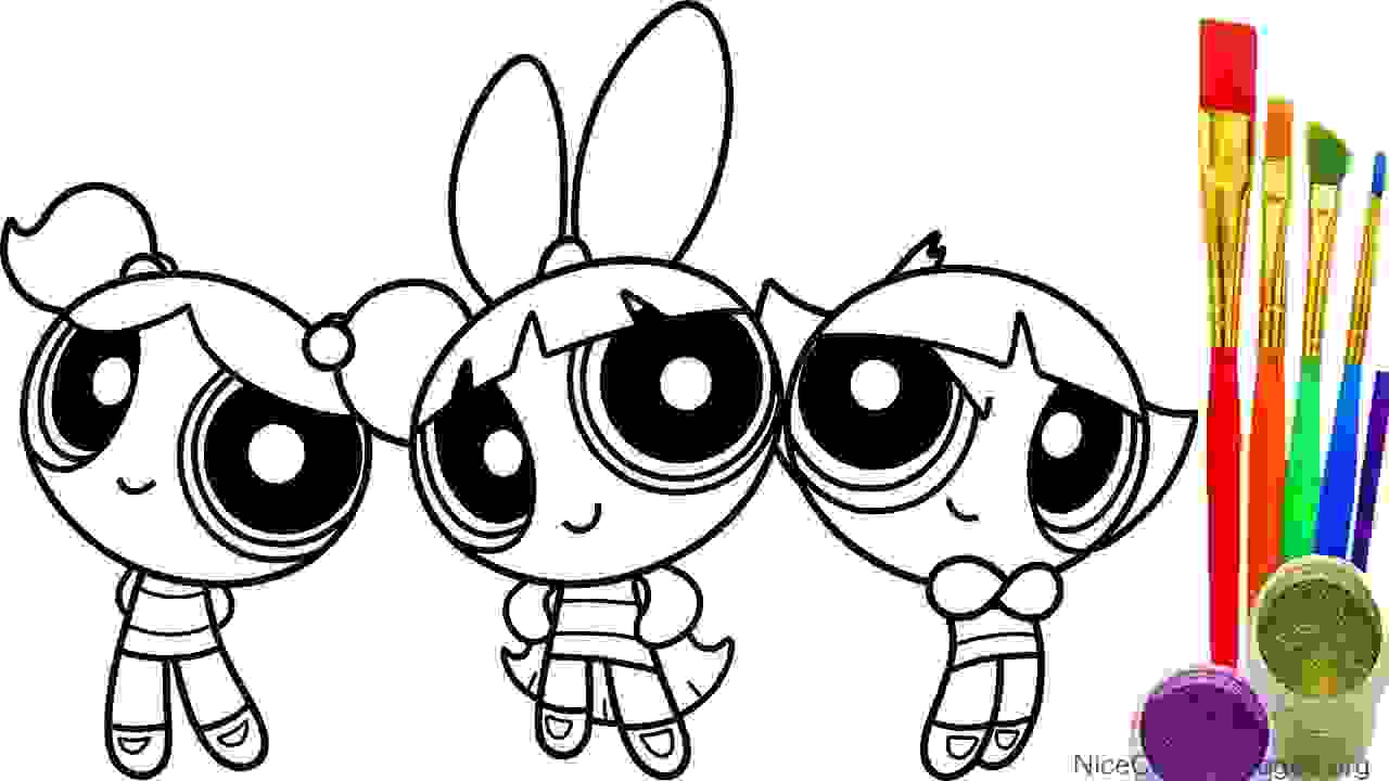 1280x720 Powerpuff Girls Coloring Pages 8 Nice Coloring Pages For Kids