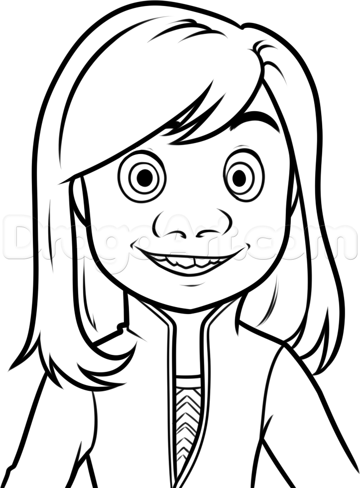 723x979 How To Draw Riley From Inside Out Step 8 Inside Out