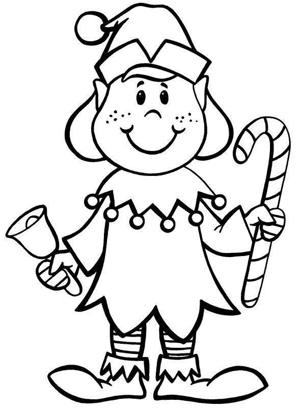 589x800 Elves Colouring Pages