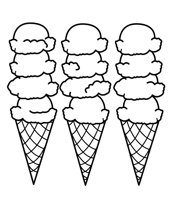 712x792 Coloring Pages Ice Cream
