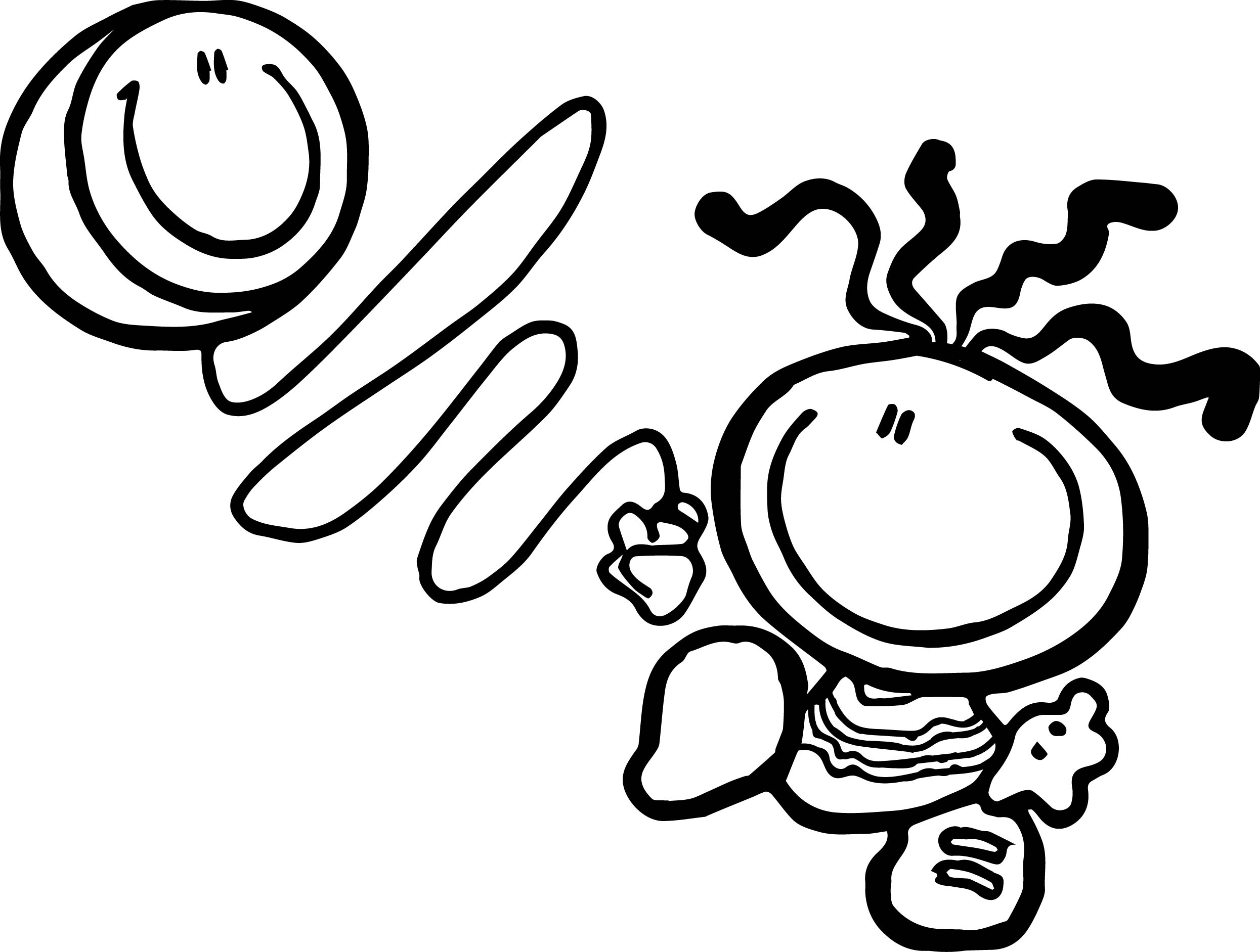 2491x1883 Coloring Pages Kids Bubblegum Balloon Kids Coloring Page Balloon