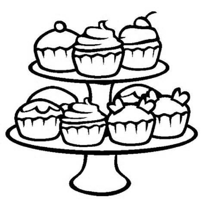 700x713 cupcake coloring pages kids cute coloring pages cupcake coloring - Coloring Book For Kids Free