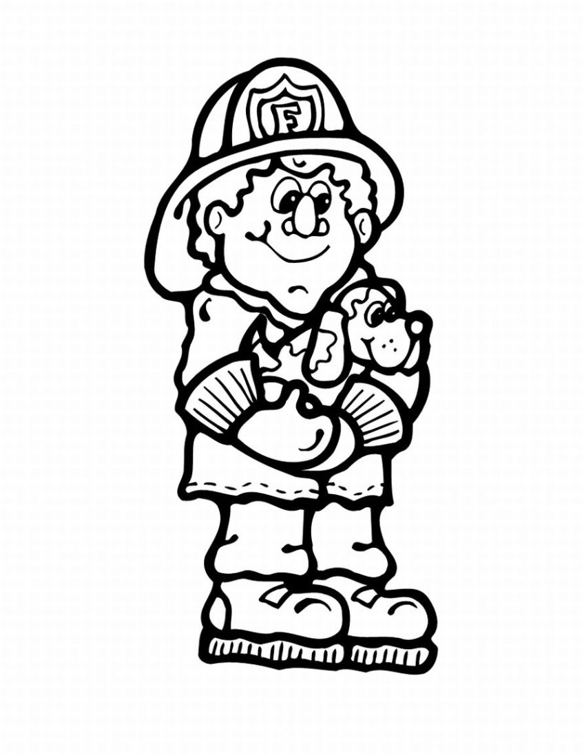 848x1097 Kids Coloring Pages Random Lake Fire Department