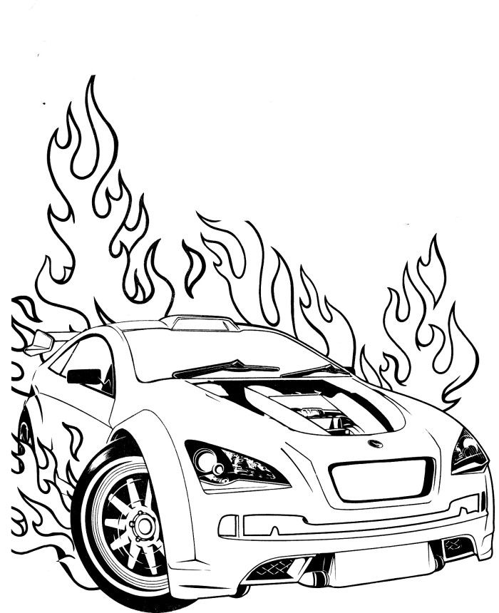 700x860 Race Cars Coloring Pages