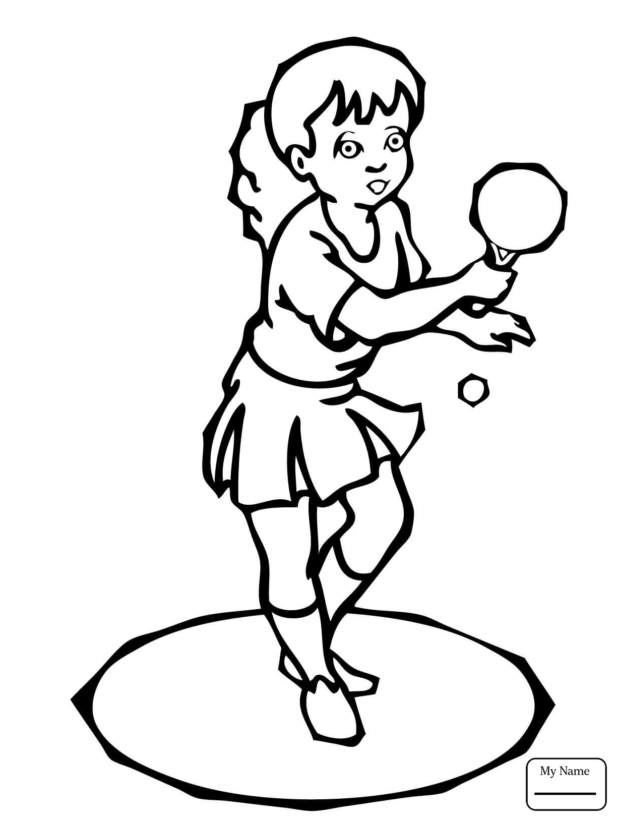 1224x1632 Coloring Pages For Kids Boys Playing Ping Pong Sports