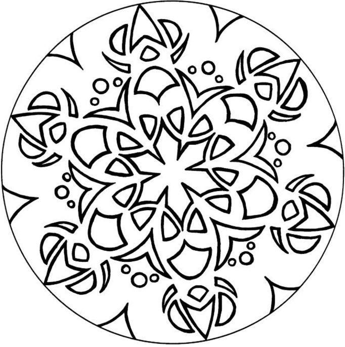 682x685 Circled Mandala Coloring Pages For Teens