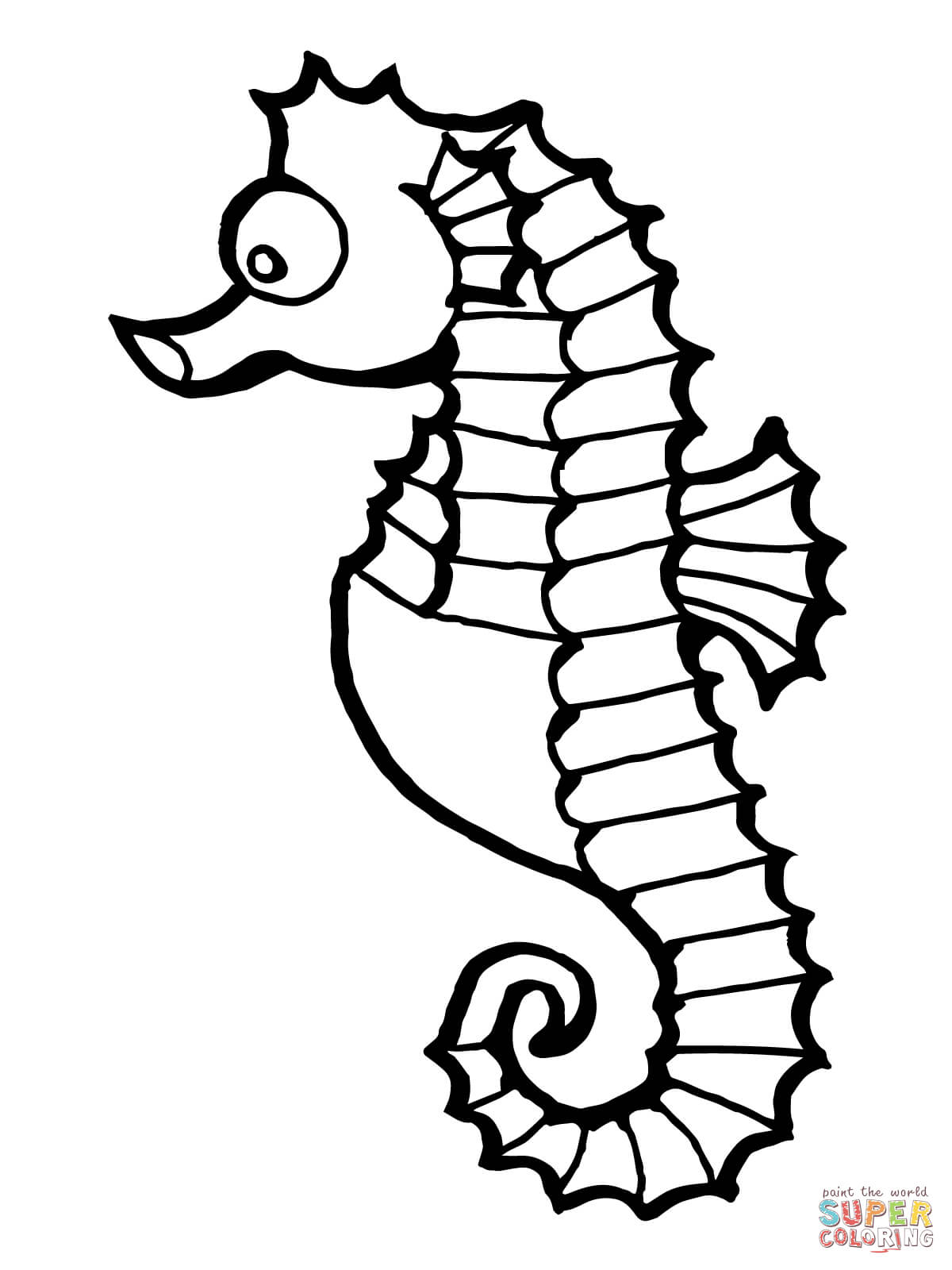 1200x1600 Lovely Ideas Seahorse Coloring Page Pages Free