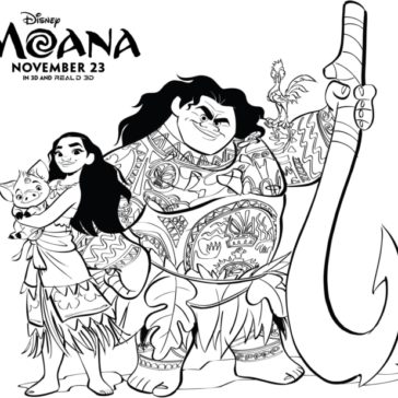364x364 Free Moana Coloring Pages Set Moan A Cumple Moana