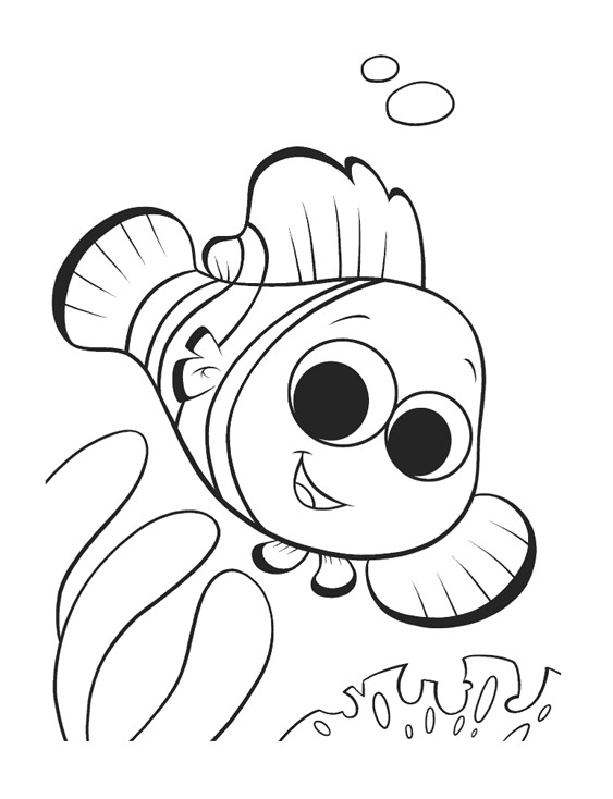 563x734 Finding Nemo Coloring Pages Birthday Printable