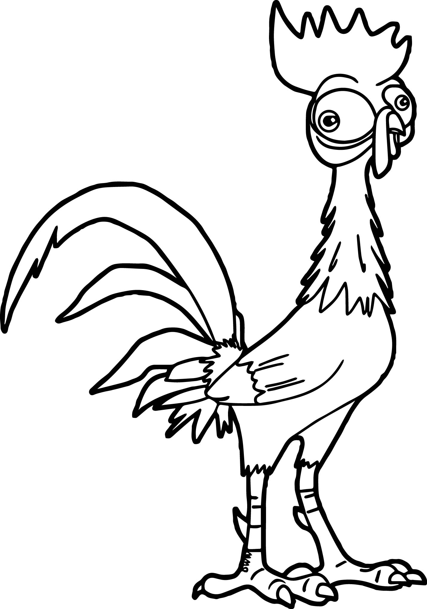 1427x2036 Heihei The Roaster Coloring Page Wecoloringpage
