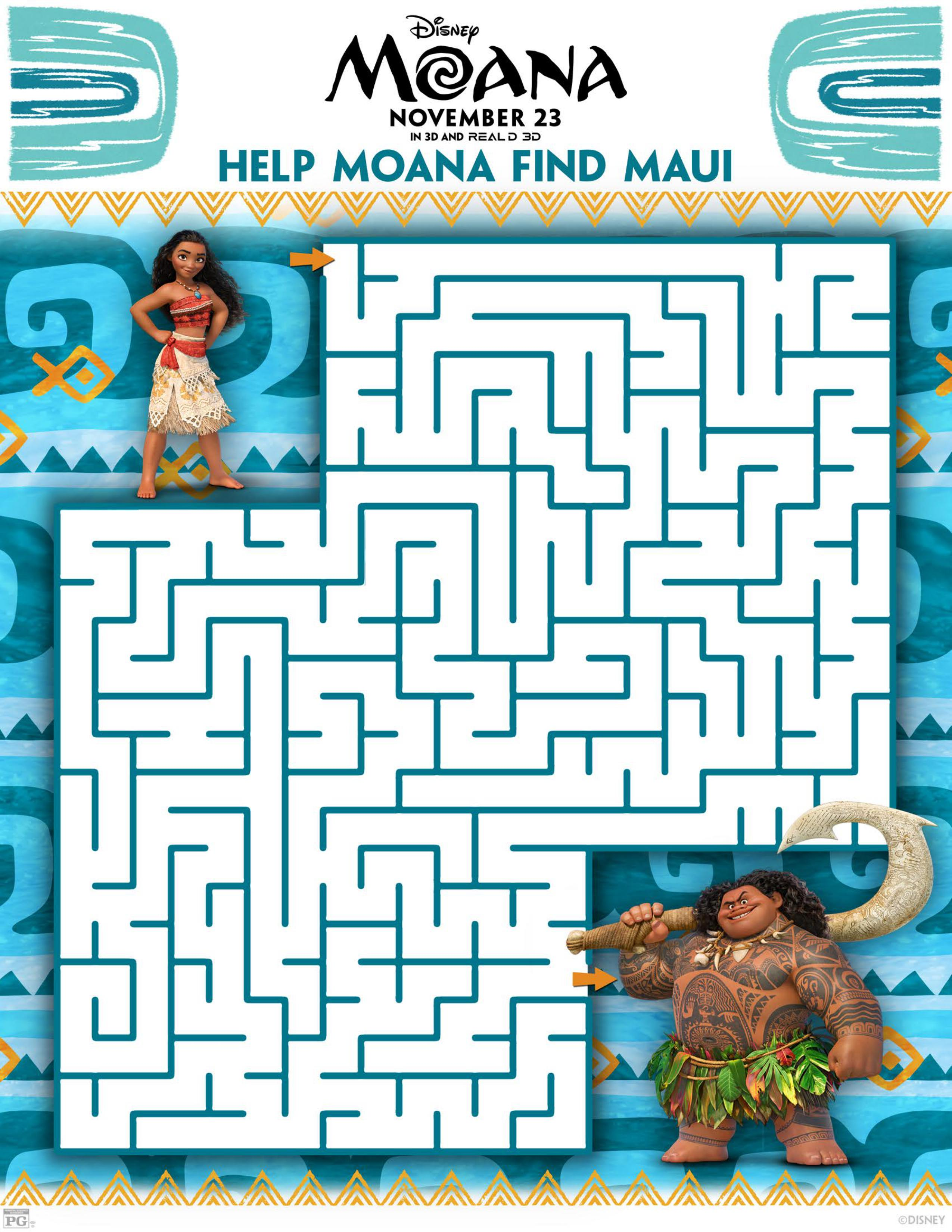 2550x3300 Moana Free Coloring Sheets And Activity Packs