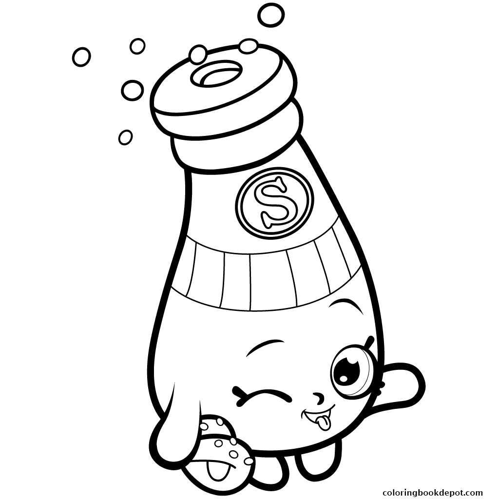 1024x1024 Pantry Sally Shakes Shopkins Season 1 Coloring Pages