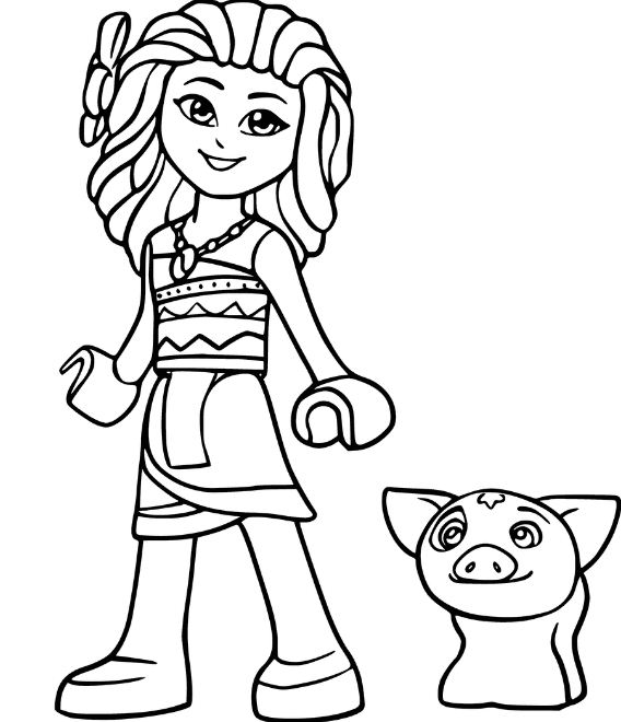 568x660 Princess Moana From Moana Coloring Page