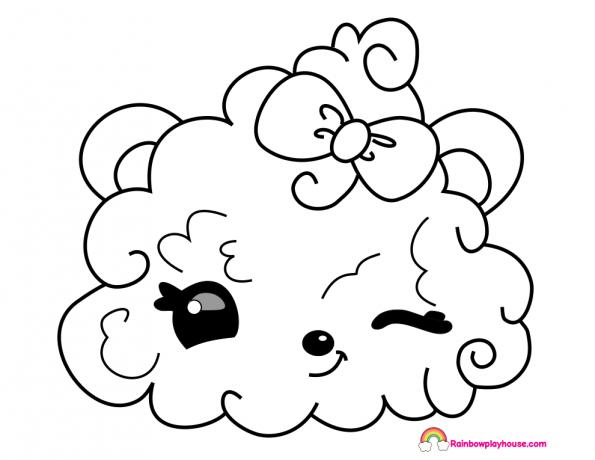 595x460 Num Noms Berry Puffs Coloring Page
