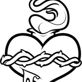 268x268 Jesus Sacred Heart Coloring Page Sacred Heart Coloring Page