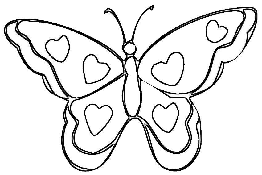 850x567 Roses And Hearts Coloring Pages 7 Of