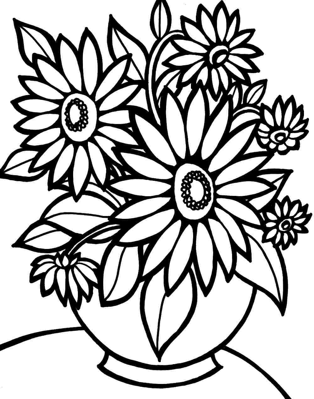 1000x1271 Coloring Pages Flowers Pdf Page Fun