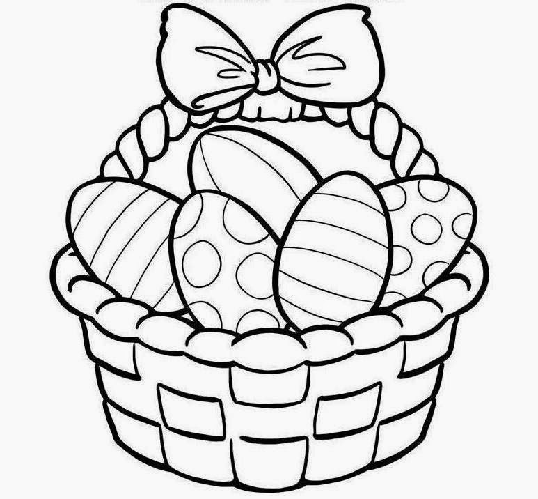 773x716 Easter Egg Clipart Black And White Image Coloring Pages