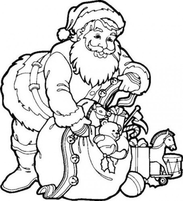 700x771 santa claus coloring pages toddlers and preschoolers kids merry