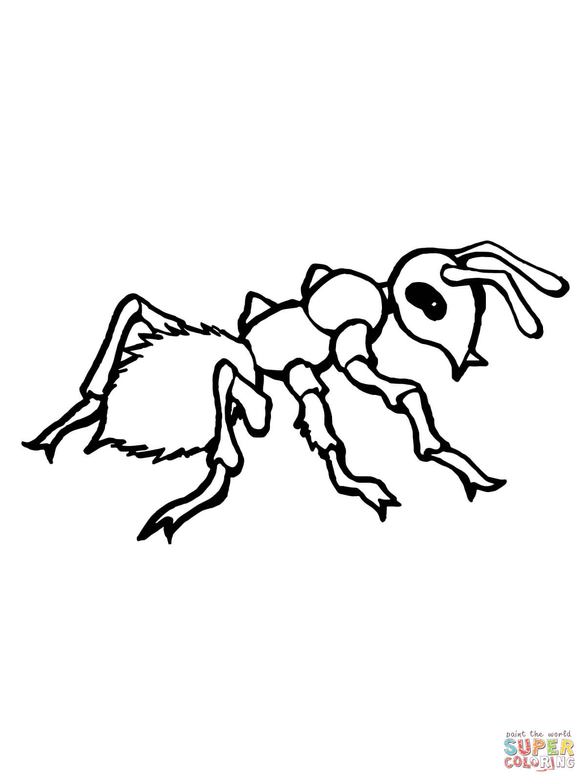 1200x1600 Free Printable Ant Coloring Pages