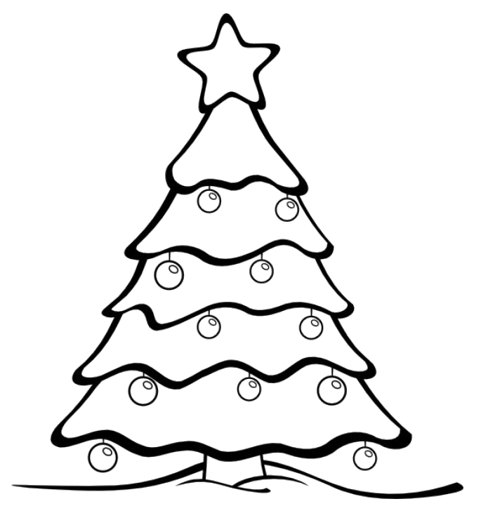 685x721 27 Christmas Tree Coloring Pages Free Printable For Adults