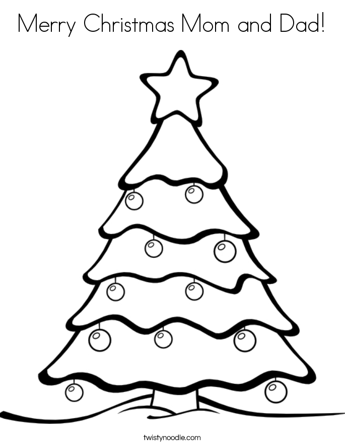685x886 Merry Christmas Mom And Dad Coloring Page