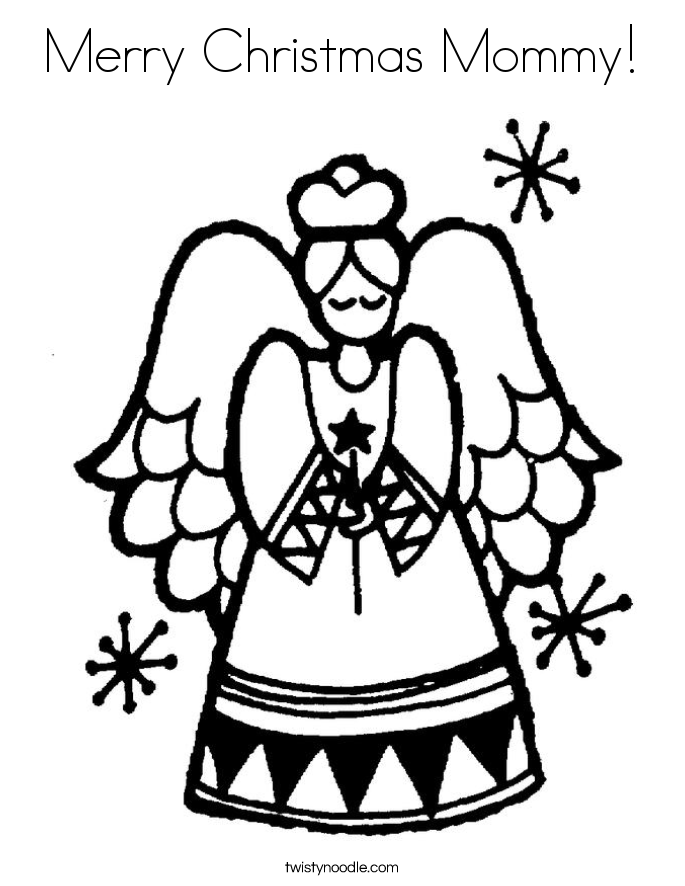 685x886 Merry Christmas Mommy Coloring Page