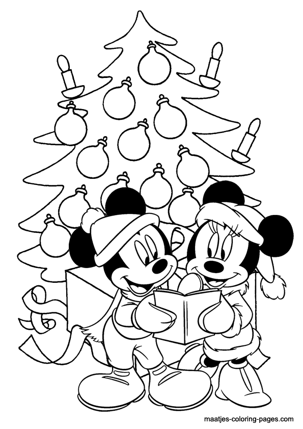 595x842 minnie mouse christmas coloring pages happy holidays