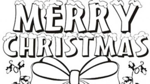 500x280 Awesome Christmas Picture To Color Coloring Pages Activities
