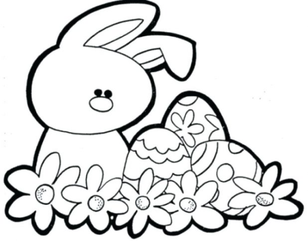 618x483 Cute Bunny Coloring Pages Via Easter Sheets Printable That You Can