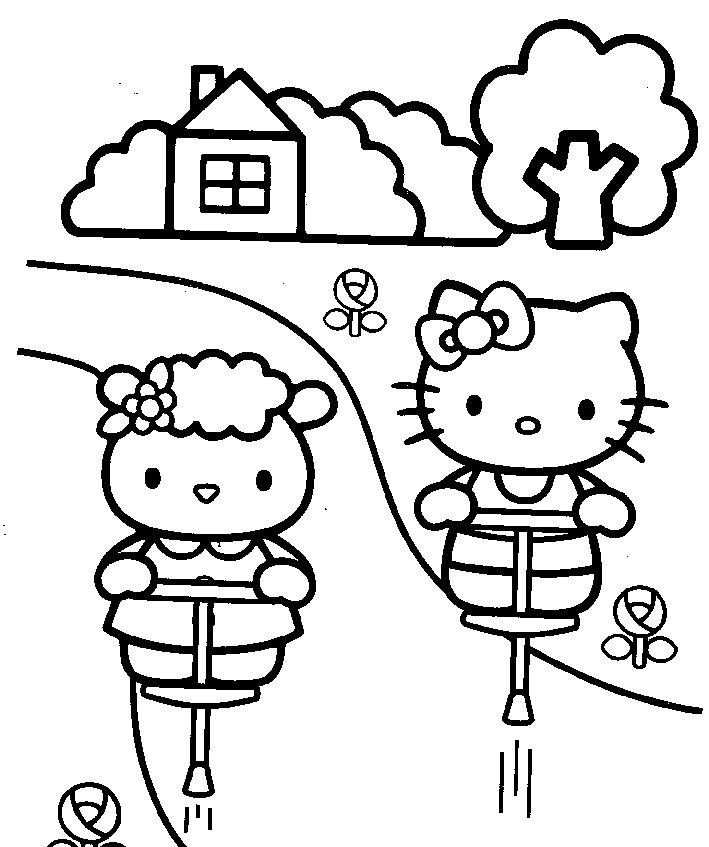 709x847 Fifi And Hello Kitty Coloring Pages You Can Print Cartoon